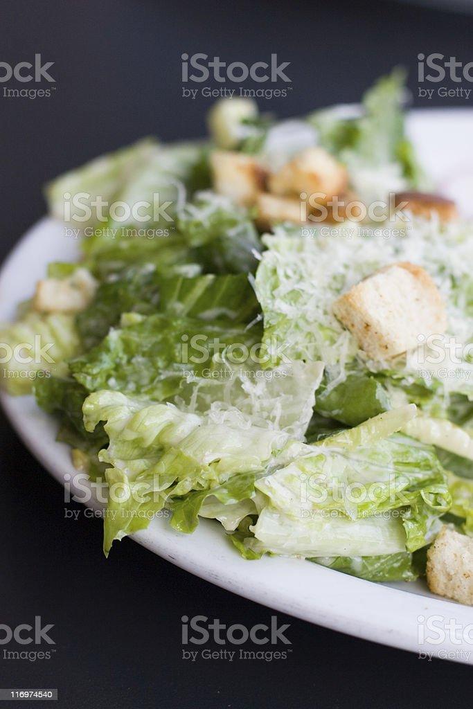 Close up photo of a Caesar salad  stock photo