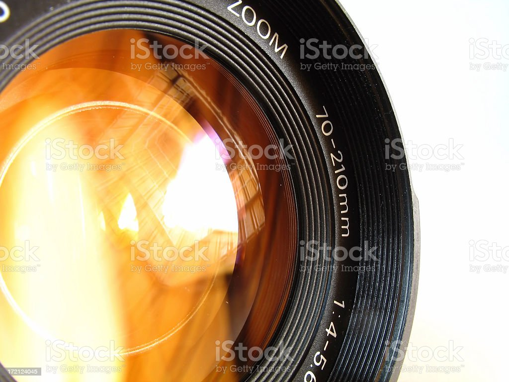 A close up photo of a camera lens royalty-free stock photo