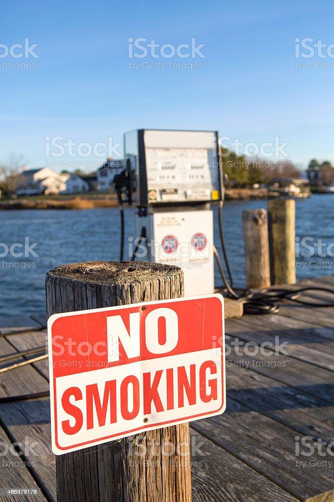 Close up photo of a NO SMOKING SIGN stock photo