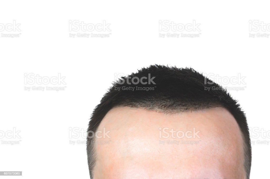 Close up photo of clean healthy man's hair stock photo