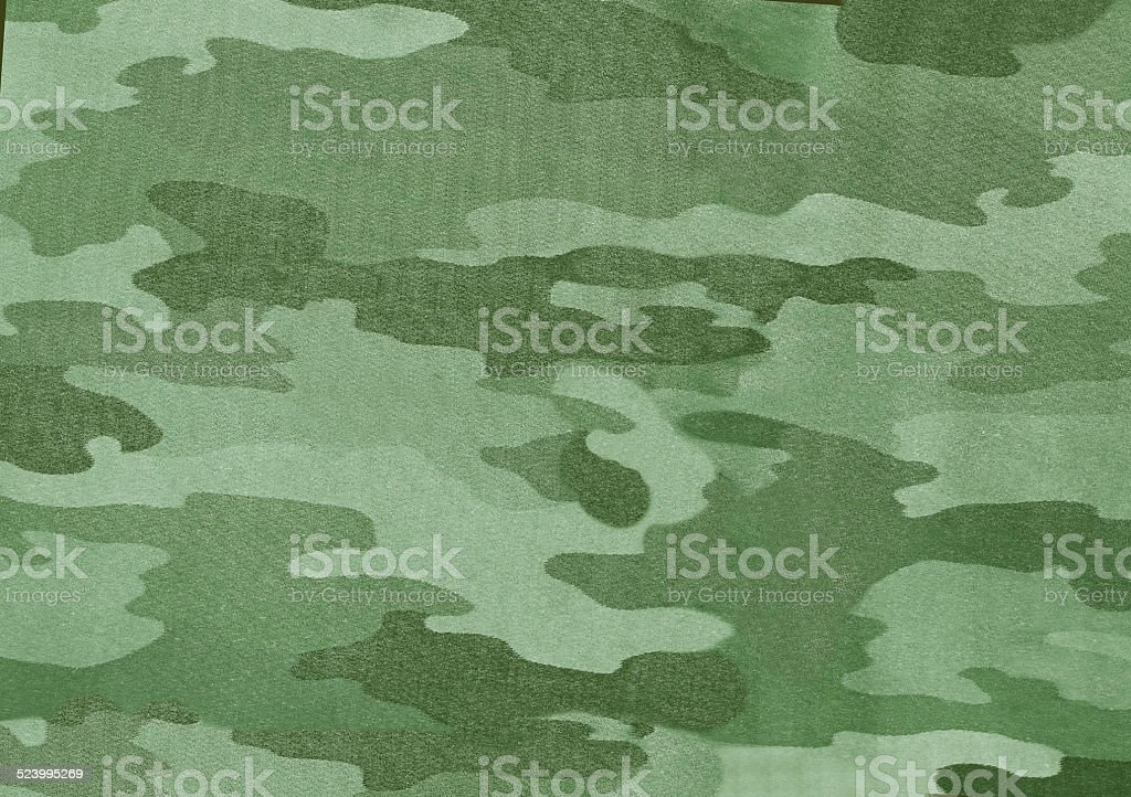 Close up photo of multicam camouflage uniform stock photo