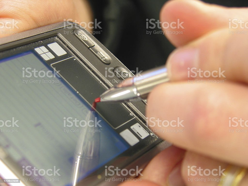 PDA - Close Up royalty-free stock photo