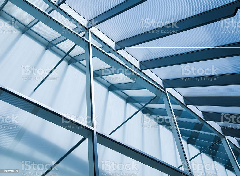 Close up picture of a building's frame stock photo
