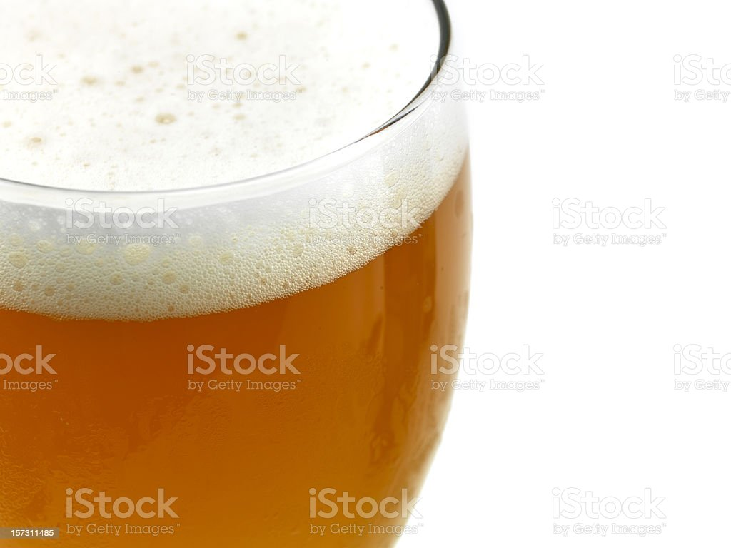 close up picture of a wheat beer glass royalty-free stock photo