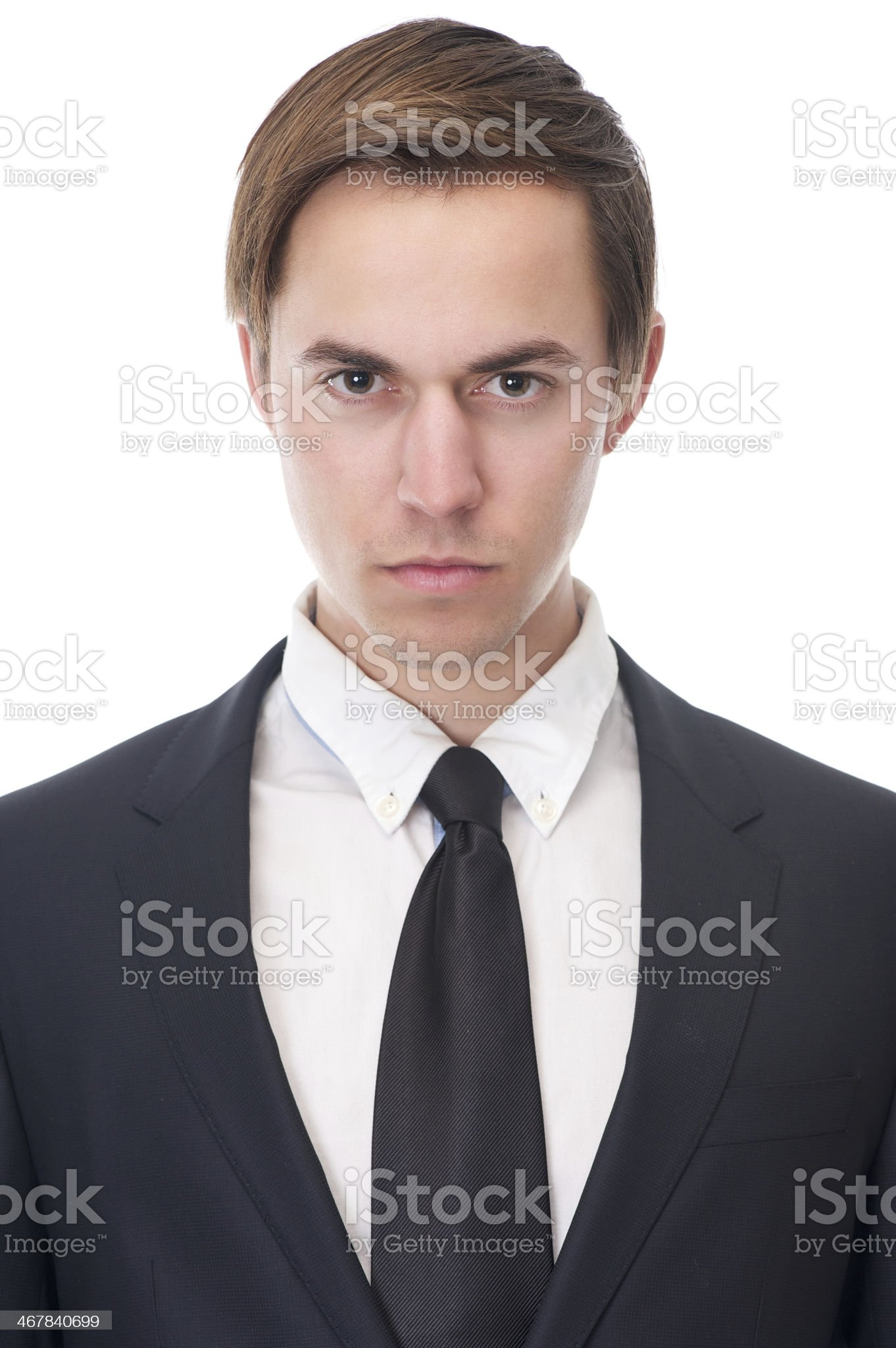 Close up portrait of a serious businessman royalty-free stock photo
