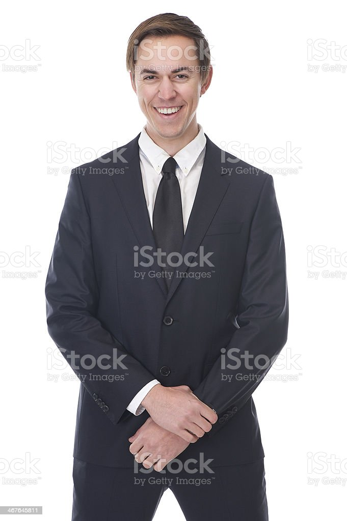 Close up portrait of a smiling businessman royalty-free stock photo