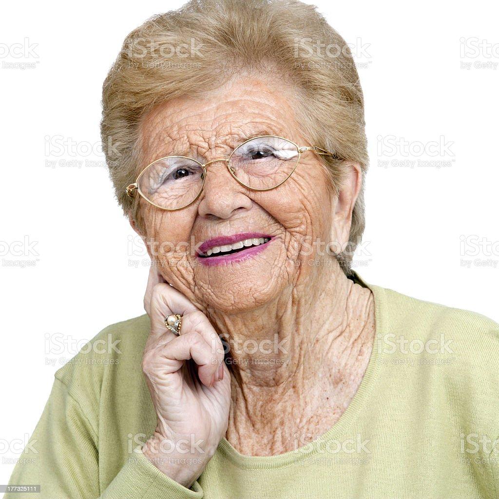 Gros plan portrait de femme âgée. photo libre de droits