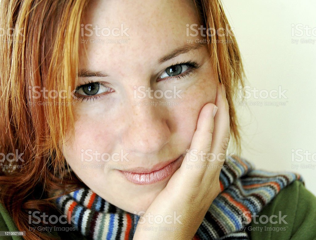 Close Up Portrait of Woman in 20s stock photo