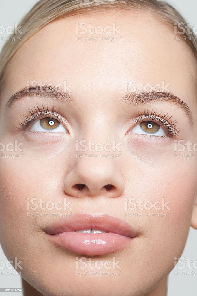 Close up portrait of woman stock photo