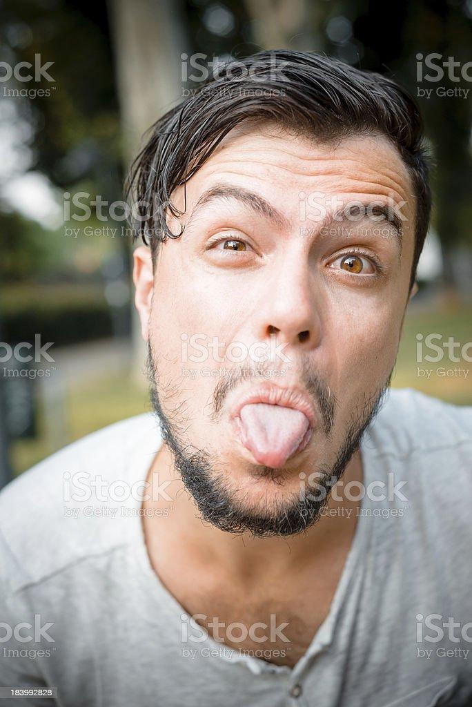 close up portrait of youg stylish man stock photo