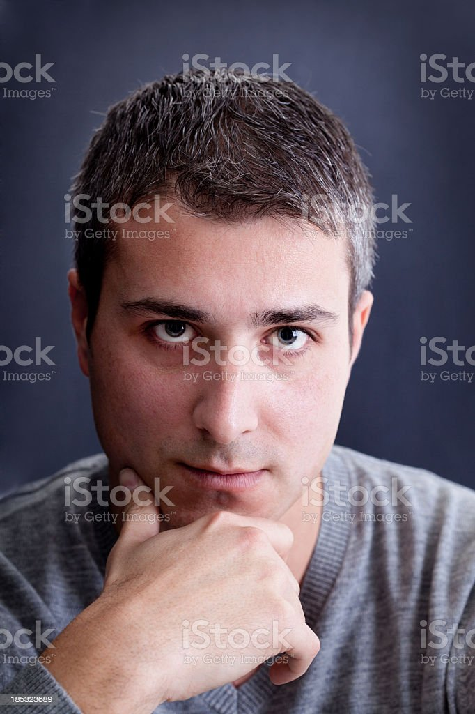 Close up portrait of young man royalty-free stock photo