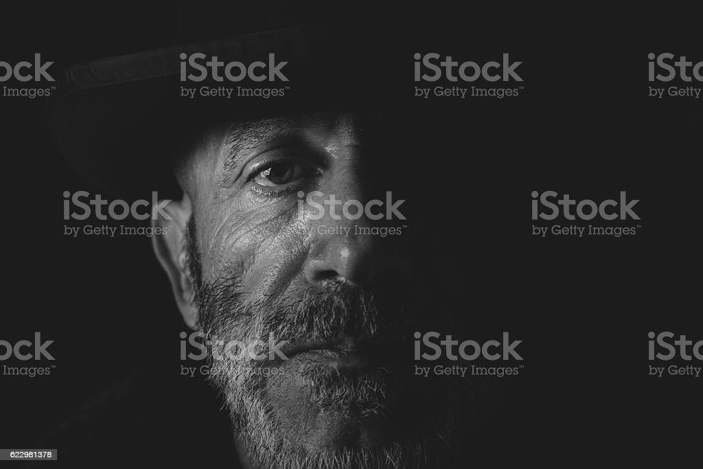 Close up portrait stock photo