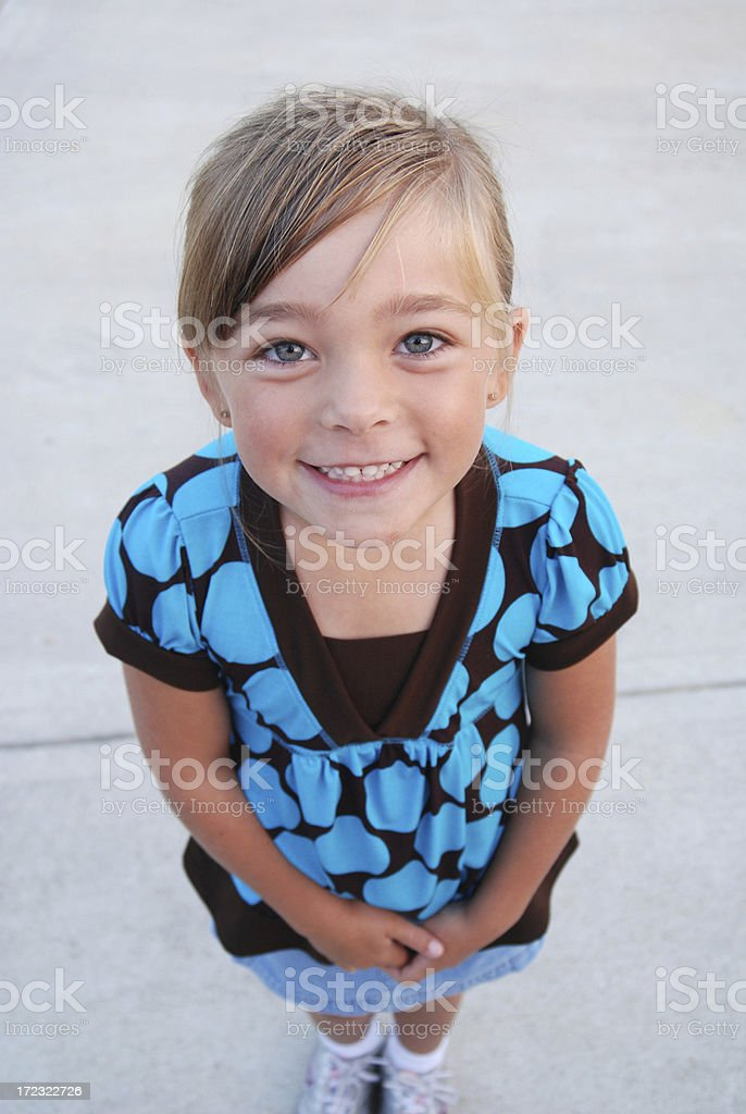 Close Up Prettty Little Girl royalty-free stock photo