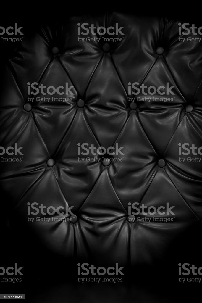 Close up retro chesterfield style, capitone textile background stock photo