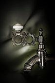 Close Up Russian Teapot Water Fountain
