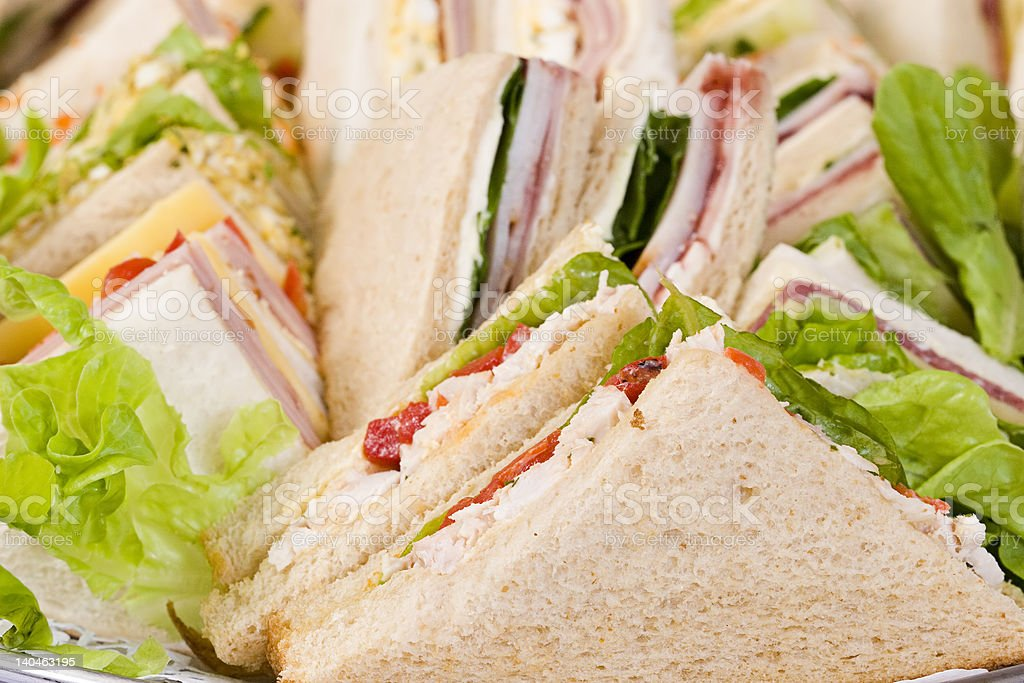 Close Up Sandwich Platter stock photo