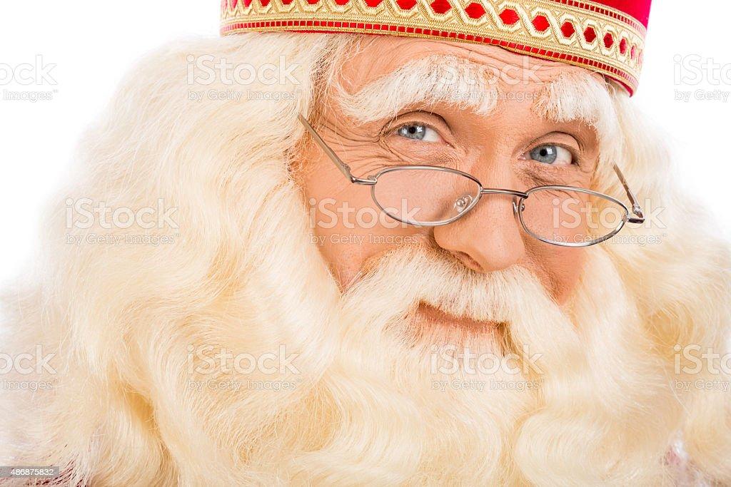 close up Santa Claus stock photo