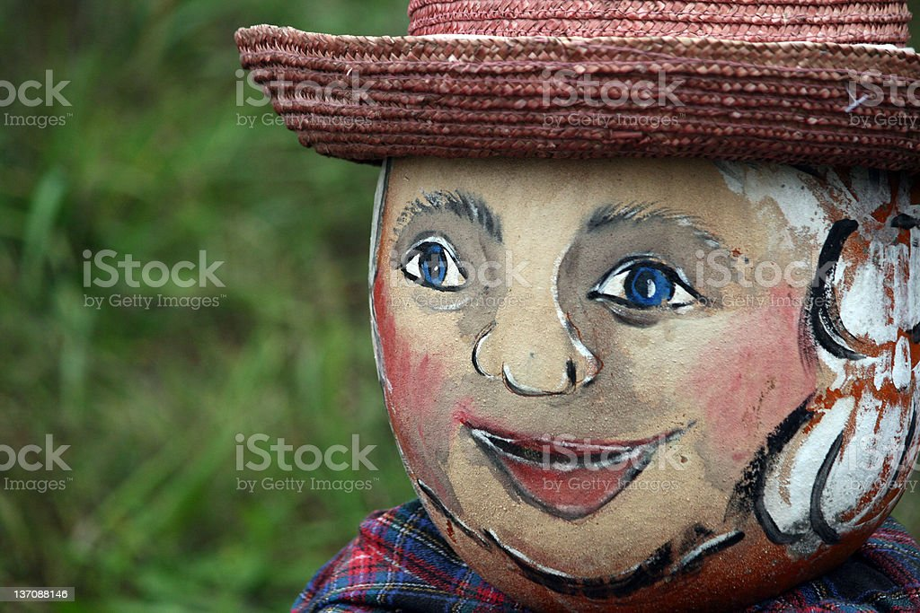 close up scarecrow face royalty-free stock photo