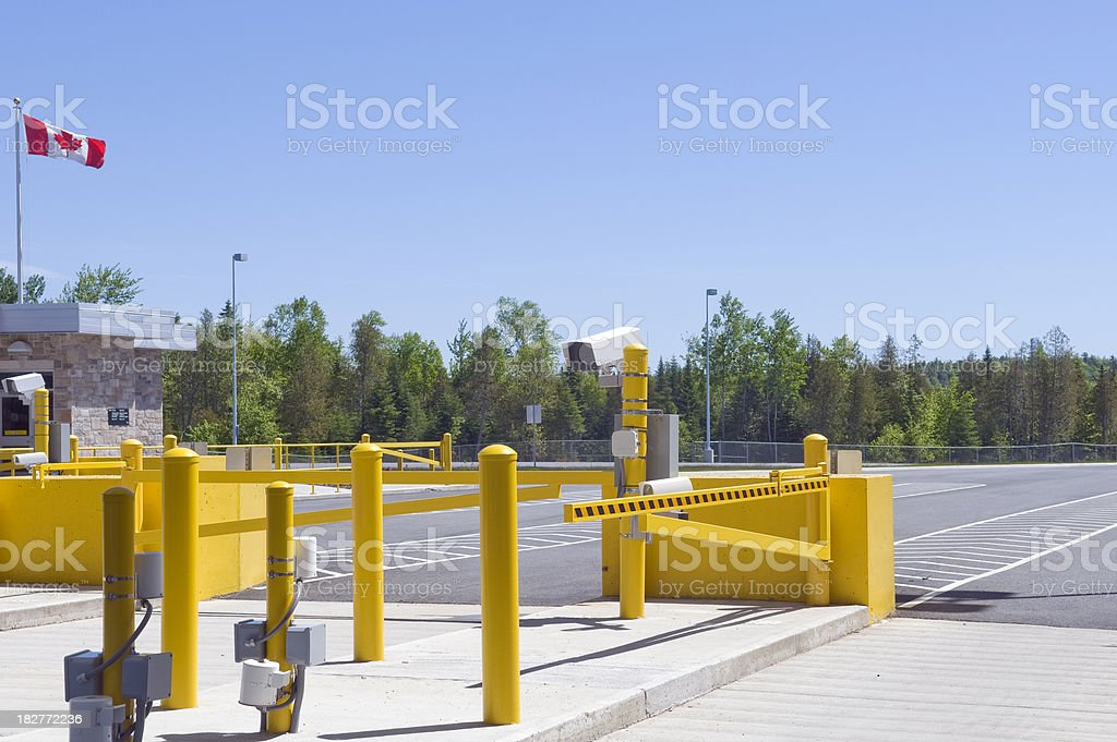Close up Security Gate royalty-free stock photo