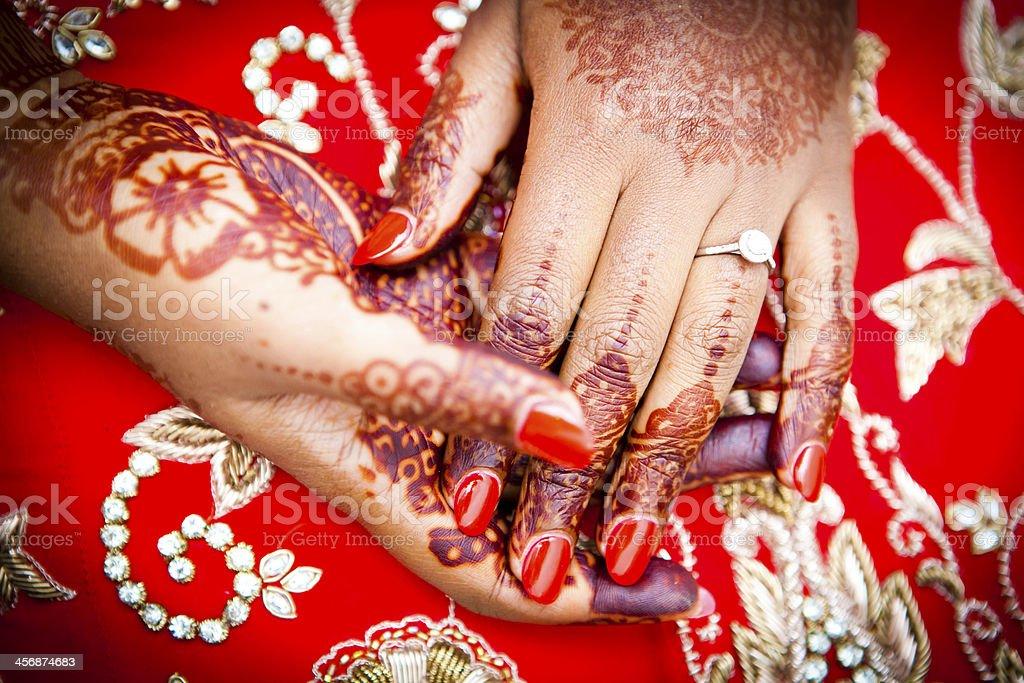 Close up shoot of henna royalty-free stock photo