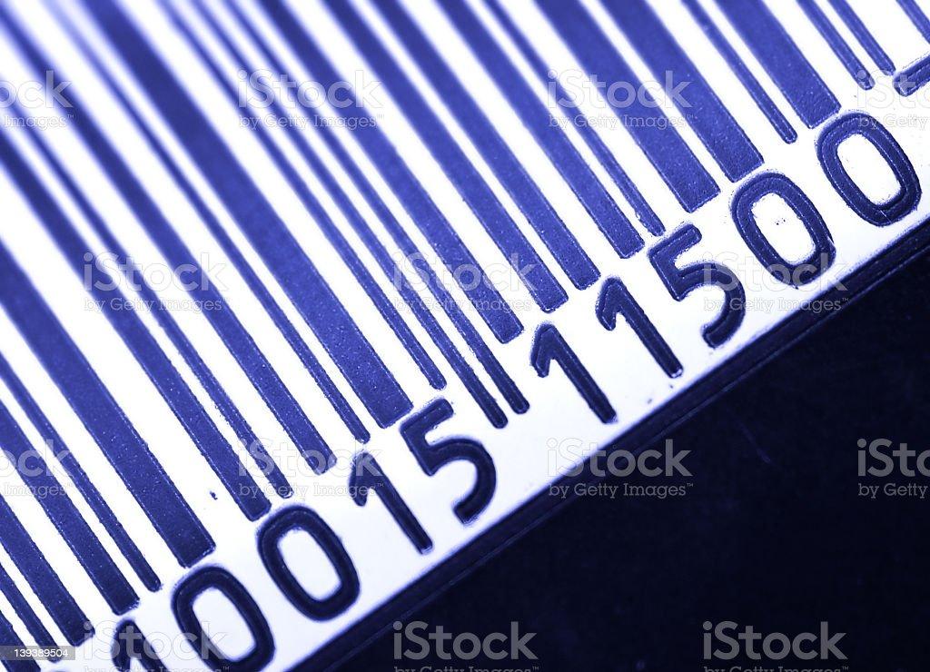 Close up shot of a printed barcode royalty-free stock photo
