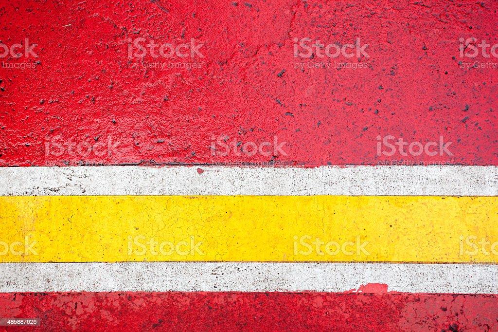 close up shot of color lines on asphalt stock photo