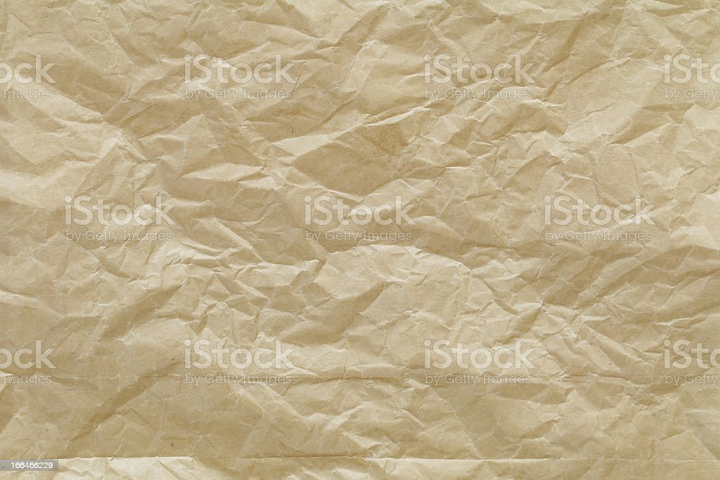 close up shot of crumpled recycled paper texture background royalty-free stock photo