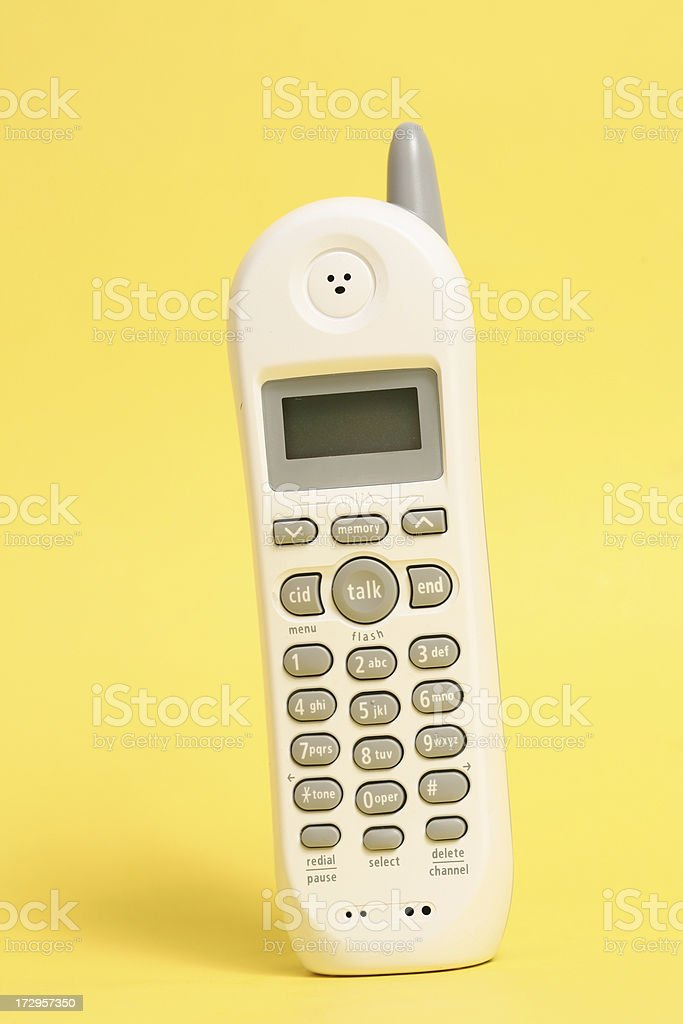 Close up shot of House phone royalty-free stock photo