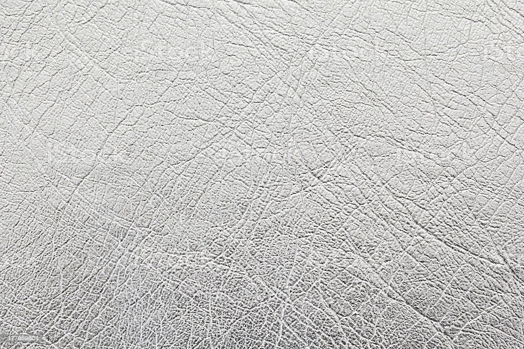 close up shot of silver leather texture background royalty-free stock photo