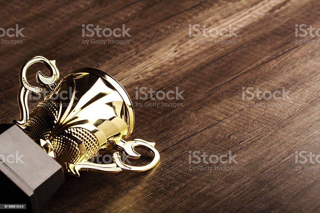 close up shot of trophy stock photo