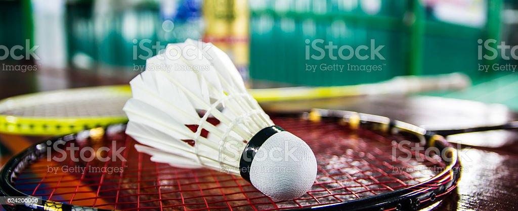 Close up shuttlecock stock photo