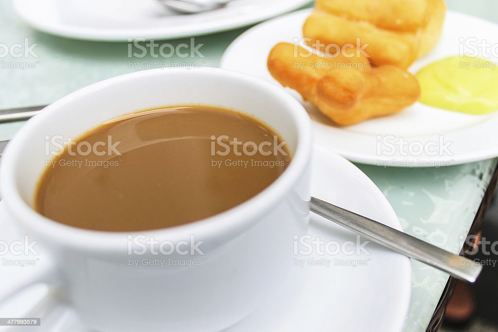 Close up simple breakfast. royalty-free stock photo