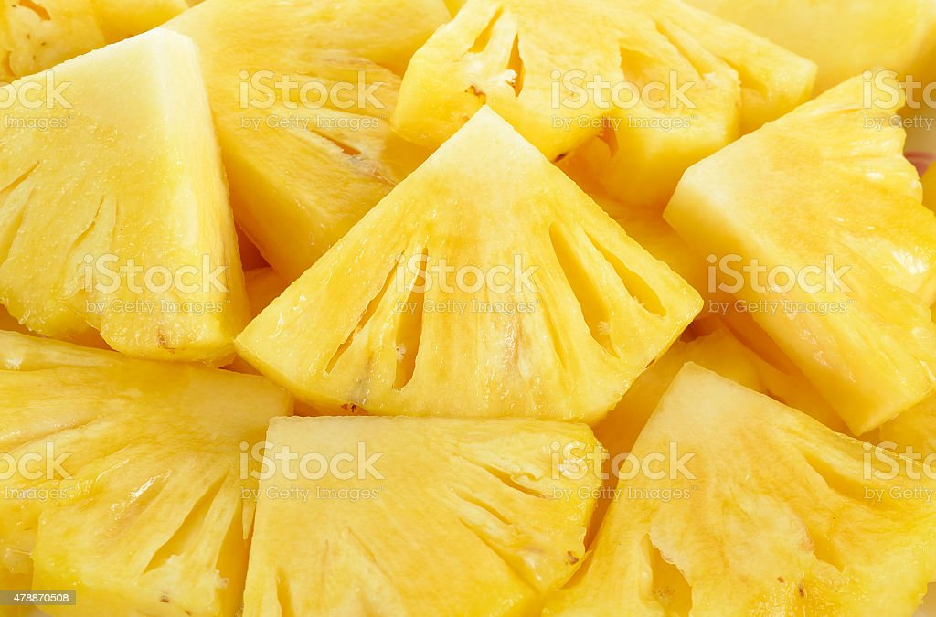 Close up slice pineapple background texture stock photo