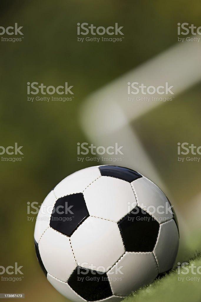 Close up soccer royalty-free stock photo