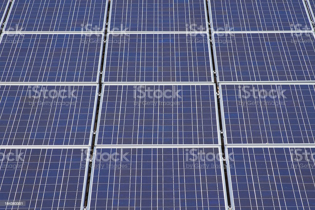 Close Up Solar Panels royalty-free stock photo