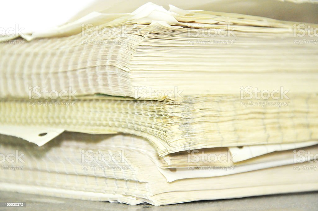 Close Up Stack Of Papers stock photo