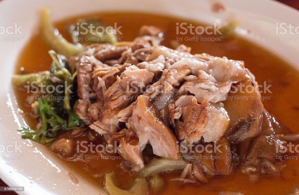 close up stewed pork leg on rice Стоковые фото Стоковая фотография