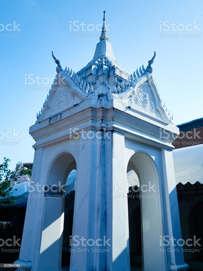Close up temple architecture detail stock photo