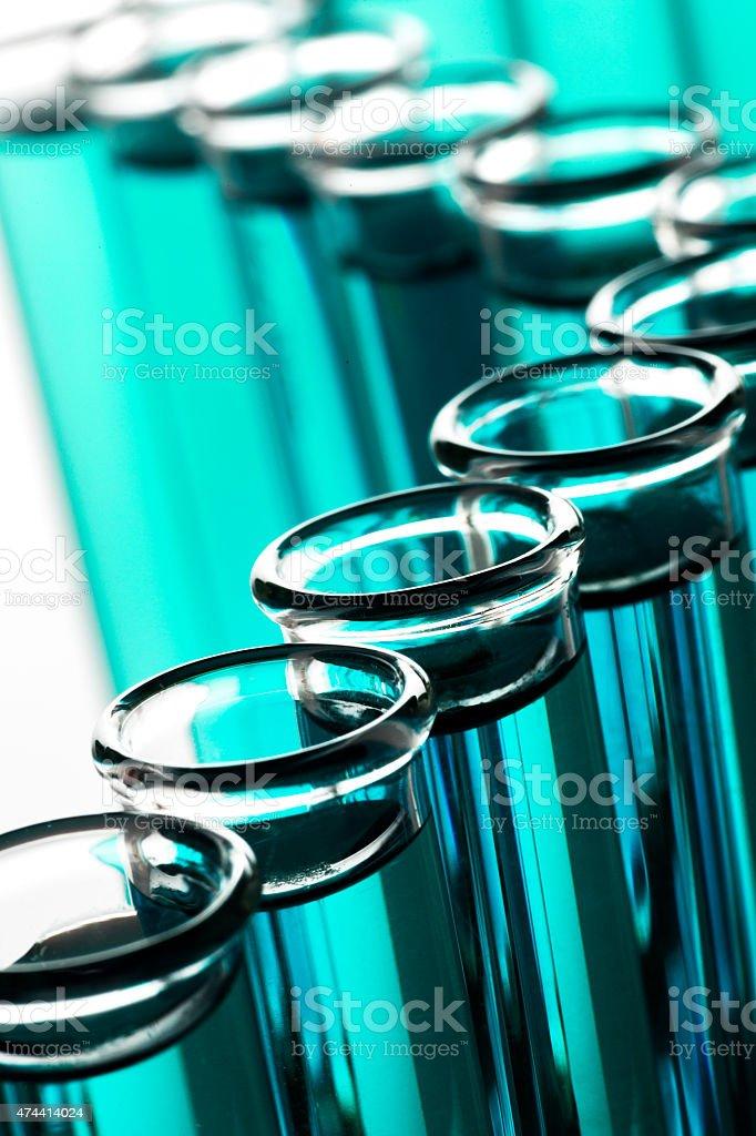 Close up Test Tube Bottles stock photo