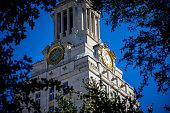 Close up Texas of University at Austin UT Tower