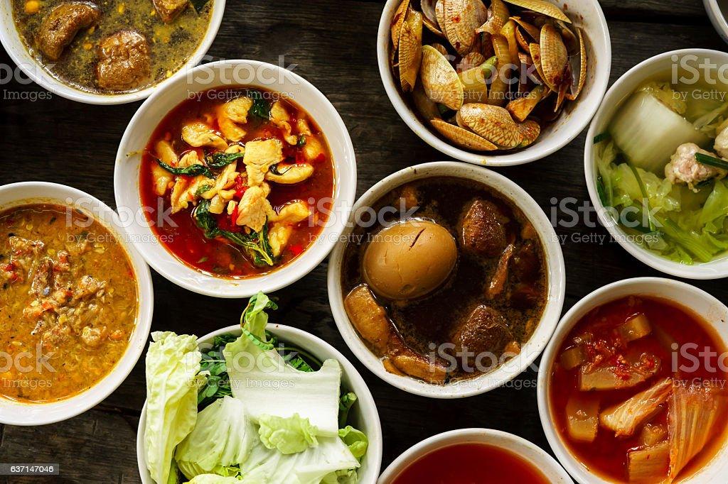 Close up Thai Foods stock photo