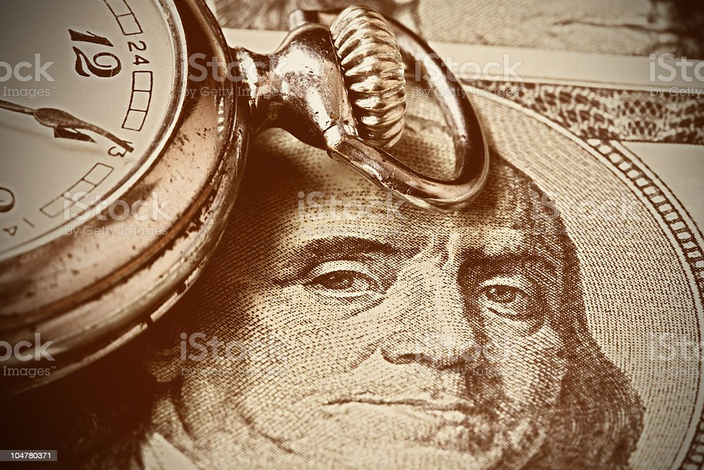 Close up, Time and Money stock photo