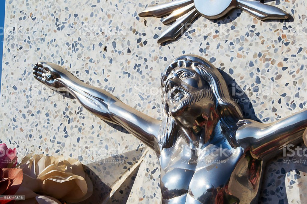 Close up to Jesus stock photo