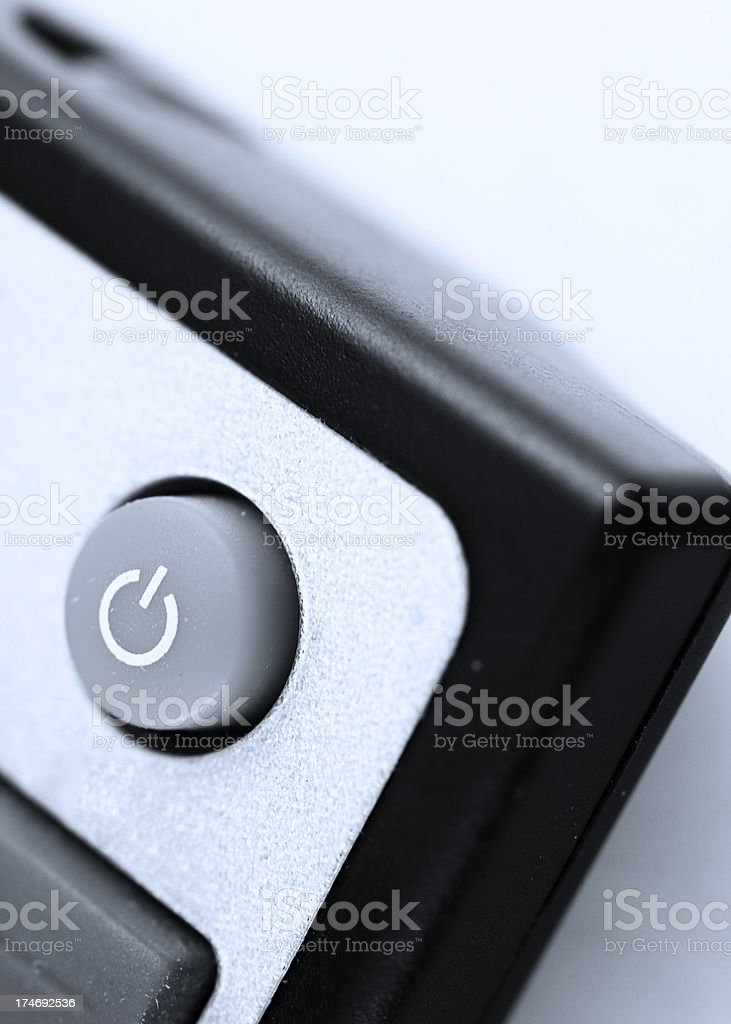 Close up to the power button royalty-free stock photo