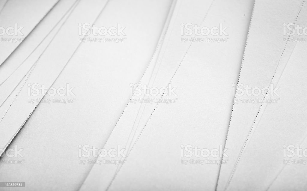 Close up too many sheets of paper, background stock photo