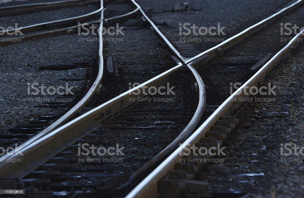 Close up train tracks royalty-free stock photo