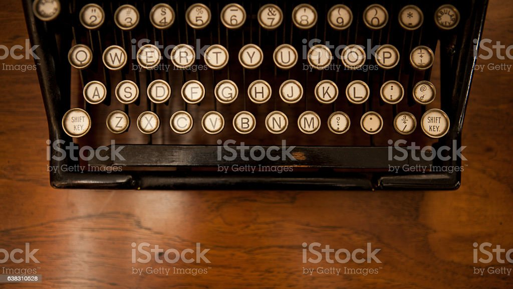 Close Up Typewriter Keys stock photo
