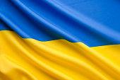 Close up ukranian flag