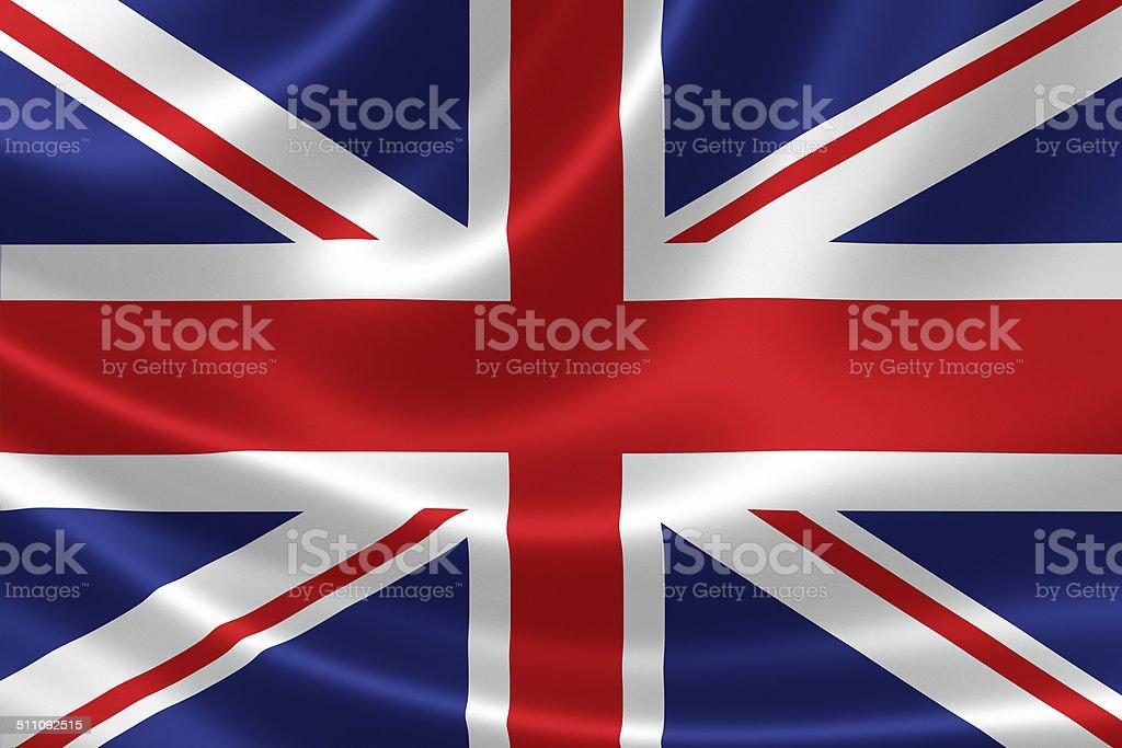 Close up United Kingdom's Flag stock photo