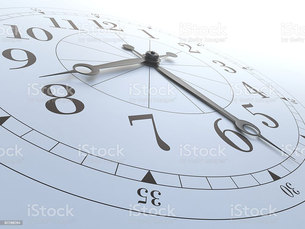 Close up view of a clock royalty-free stock photo